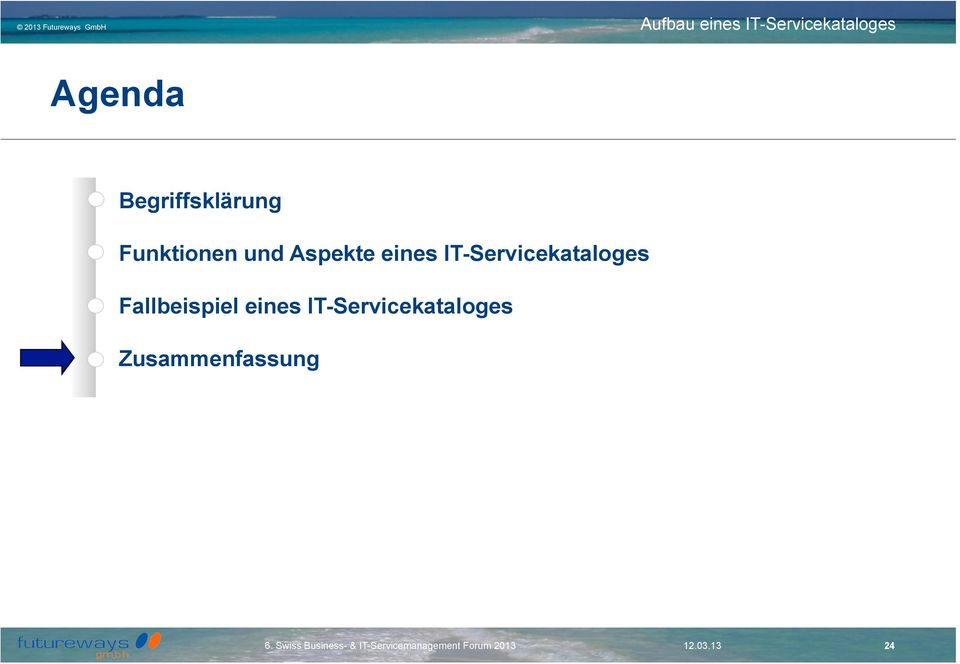 IT-Servicekataloges Fallbeispiel
