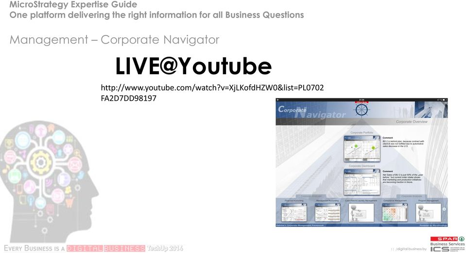 Corporate Navigator LIVE@Youtube http://www.youtube.