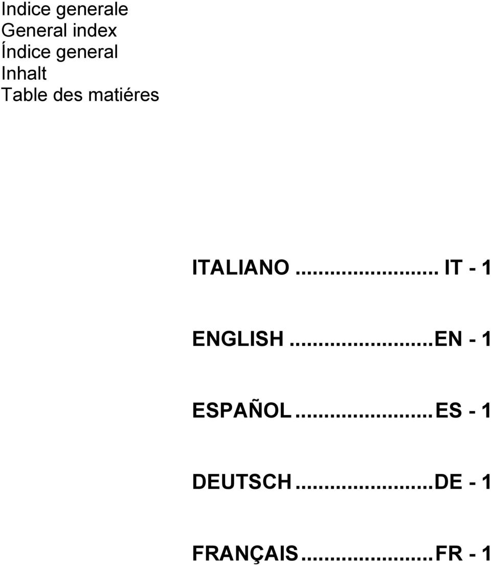 ITALIANO... IT - 1 ENGLISH.