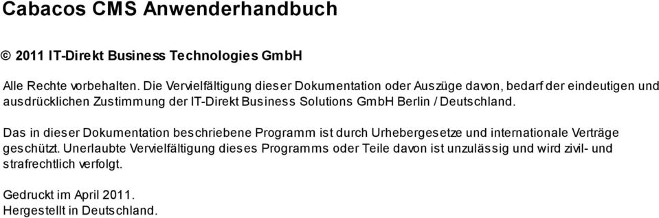 Business Solutions GmbH Berlin / Deutschland.