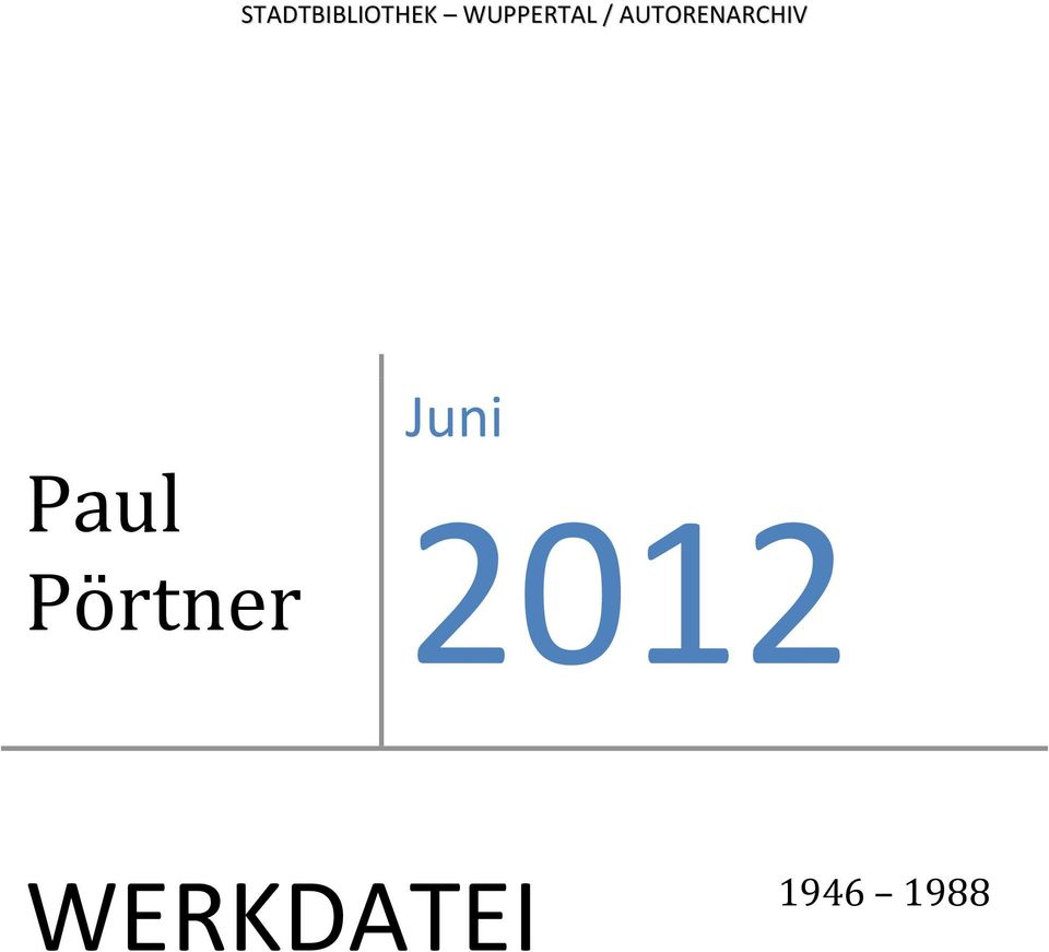 AUTORENARCHIV Paul