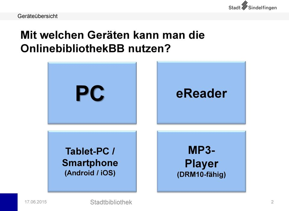 PC ereader Tablet-PC / Smartphone (Android