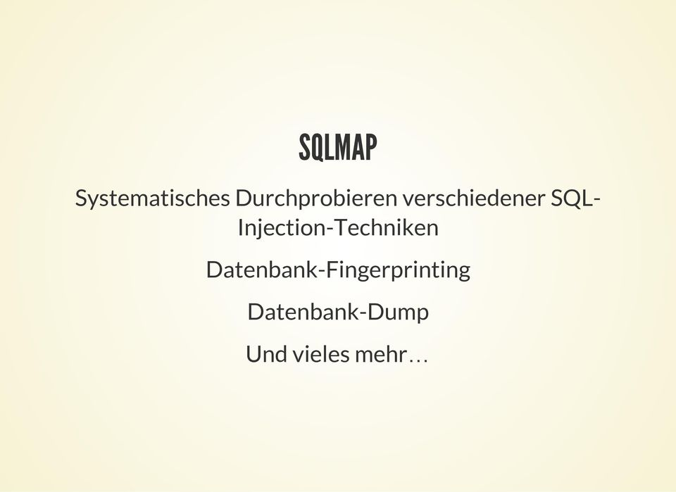 SQL- Injection-Techniken