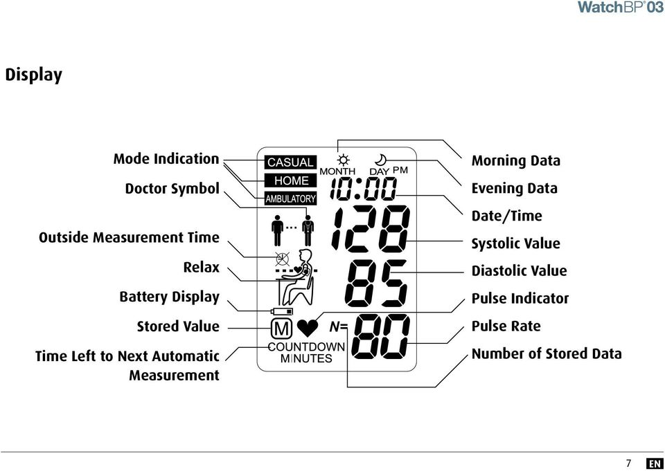 Measurement Morning Data Evening Data Date/Time Systolic Value