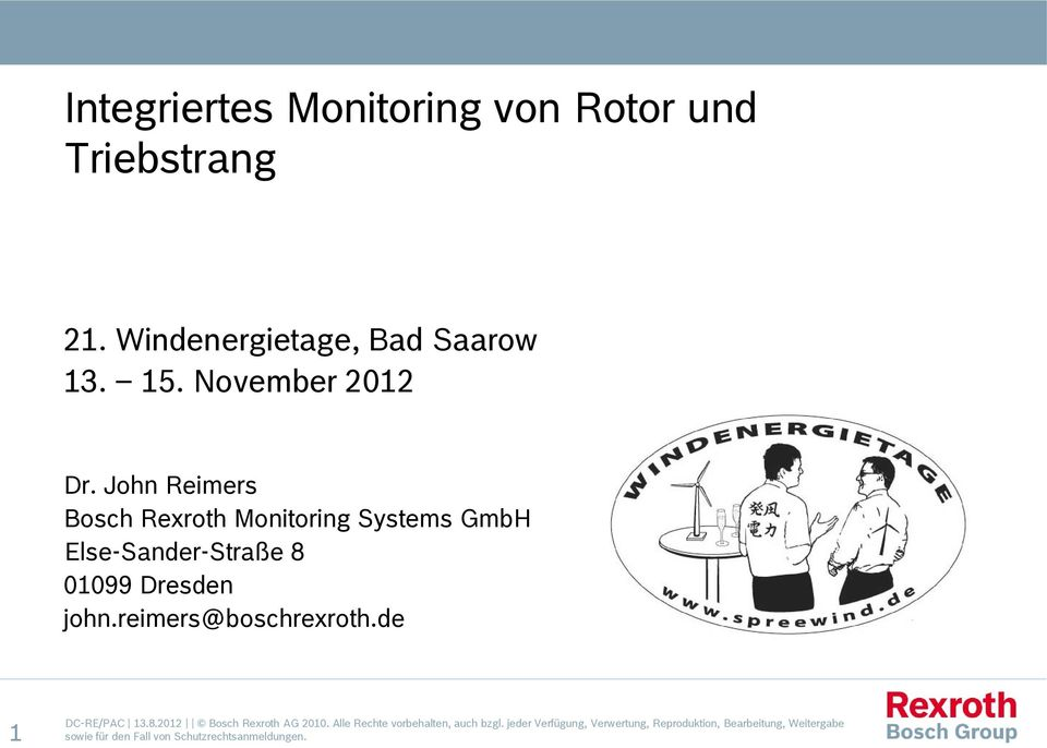 John Reimers Bosch Rexroth Monitoring Systems GmbH