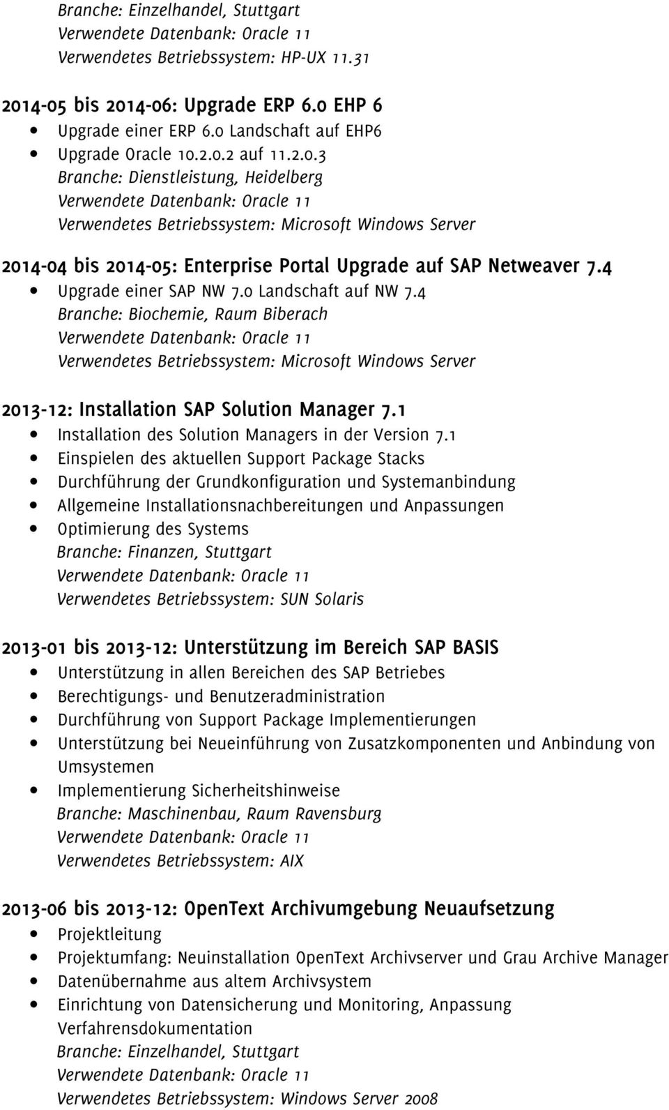 1 Installation des Solution Managers in der Version 7.