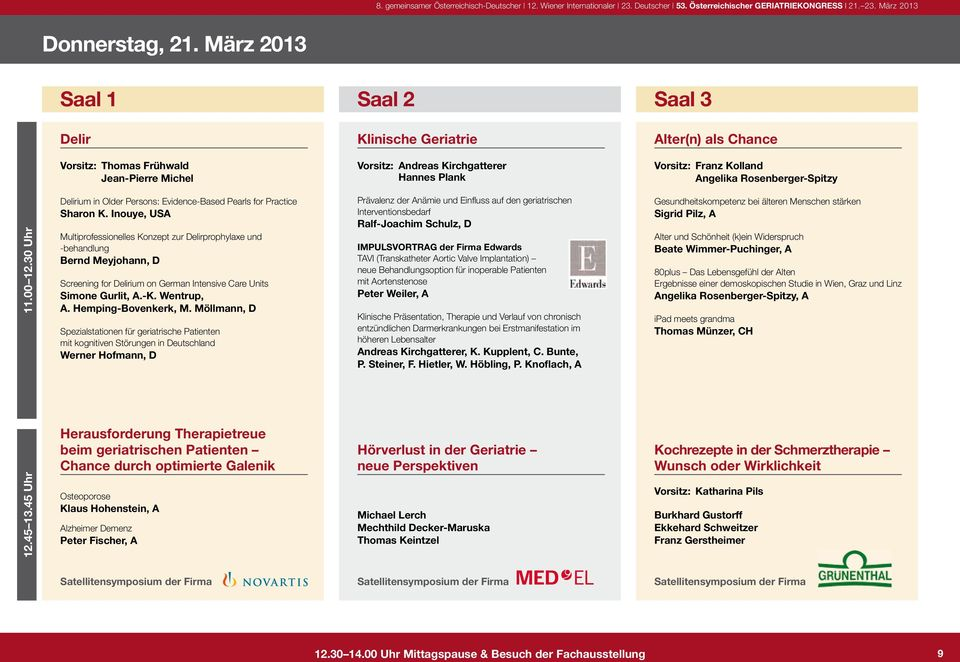 Rosenberger-Spitzy 11.00 12.30 Uhr Delirium in Older Persons: Evidence-Based Pearls for Practice Sharon K.