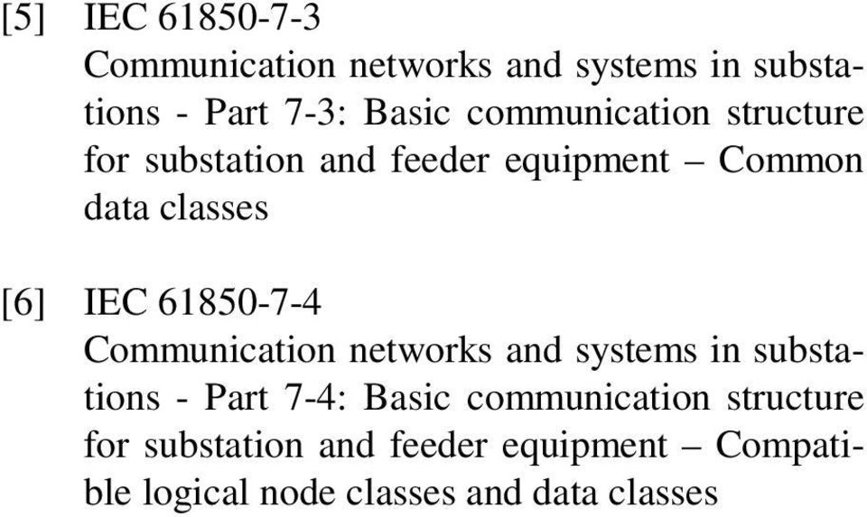 61850-7-4 Communication networks and systems in substations - Part 7-4: Basic