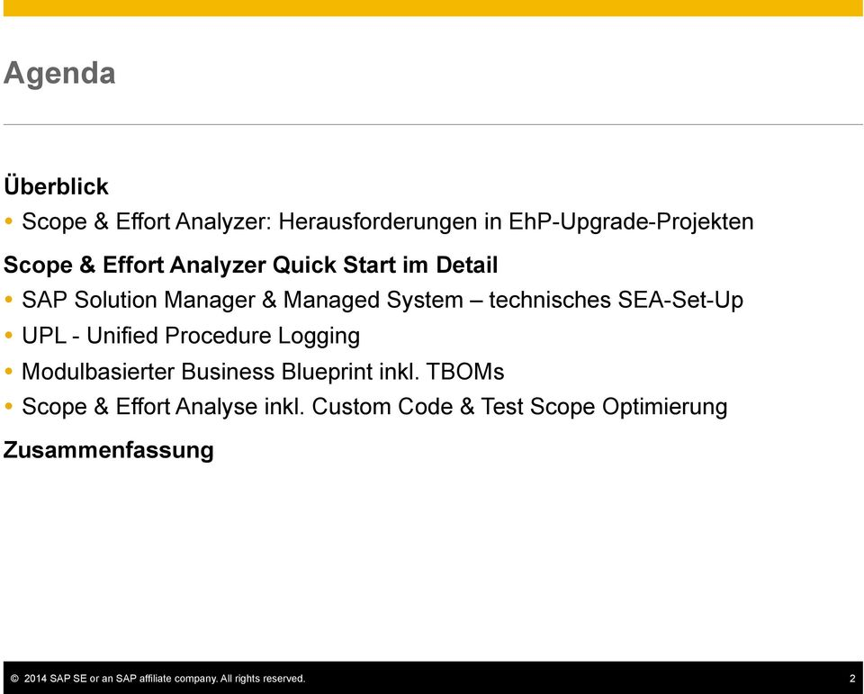 im Detail! SAP Solution Manager & Managed System technisches SEA-Set-Up! UPL - Unified Procedure Logging!
