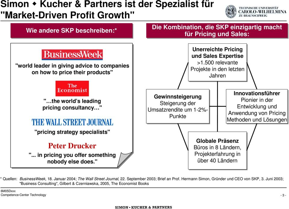 "companies on how to price their products"" Unerreichte Pricing und Sales Expertise >1."