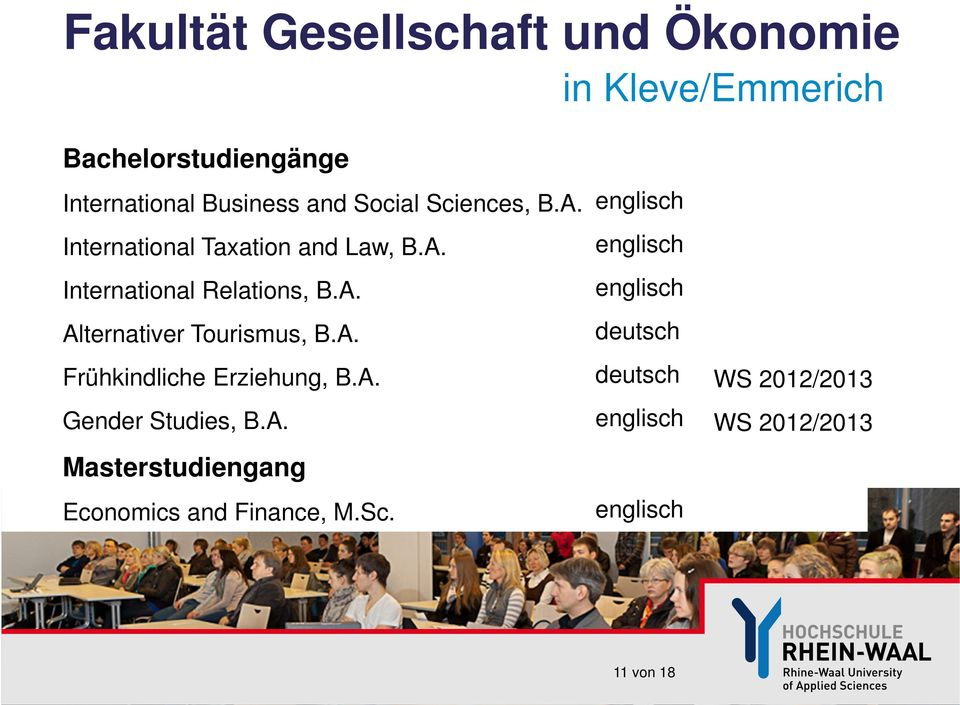 A. Alternativer Tourismus, B.A. deutsch Frühkindliche Erziehung, B.A. deutsch WS 2012/2013 Gender Studies, B.