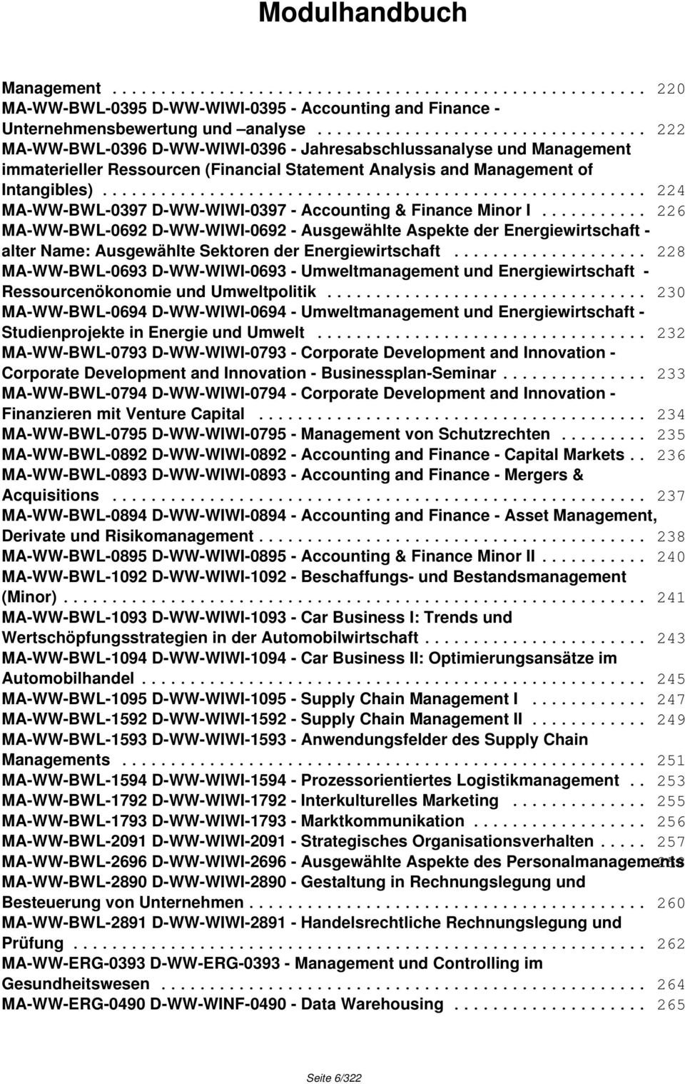 .. 224 MA-WW-BWL-0397 D-WW-WIWI-0397 - Accounting & Finance Minor I.