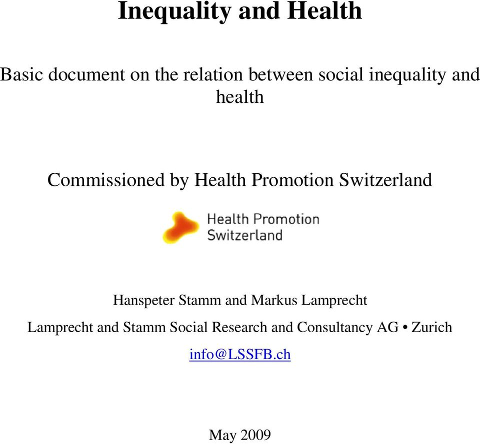 Switzerland Hanspeter Stamm and Markus Lamprecht Lamprecht and