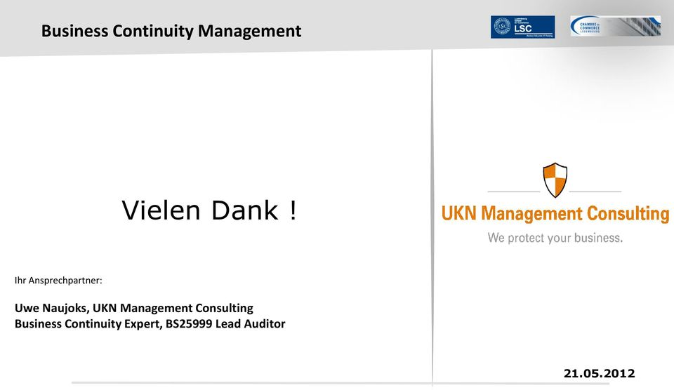 UKN Management Consulting Business