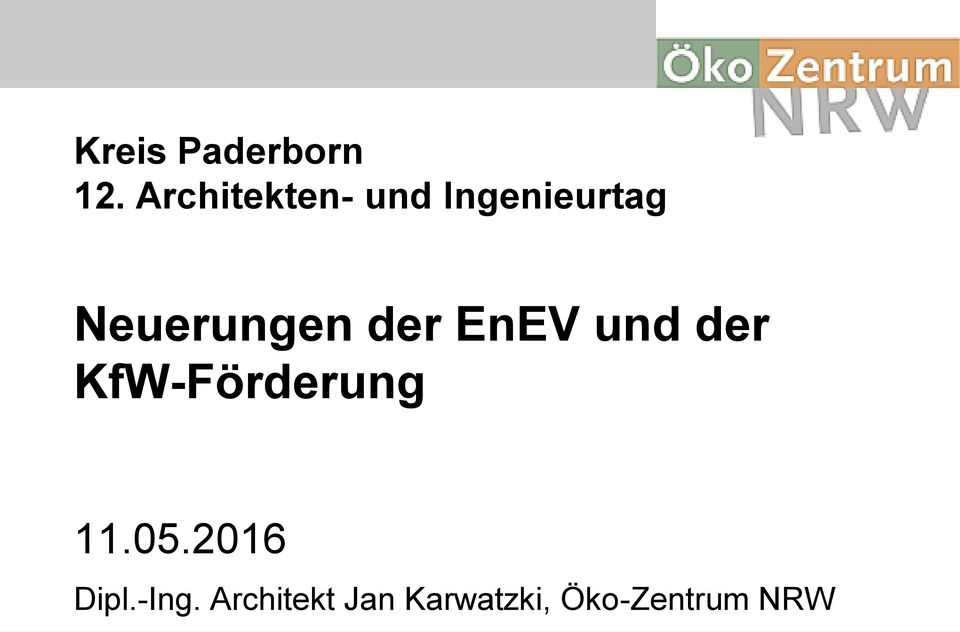neuerungen der enev und der kfw f rderung pdf. Black Bedroom Furniture Sets. Home Design Ideas