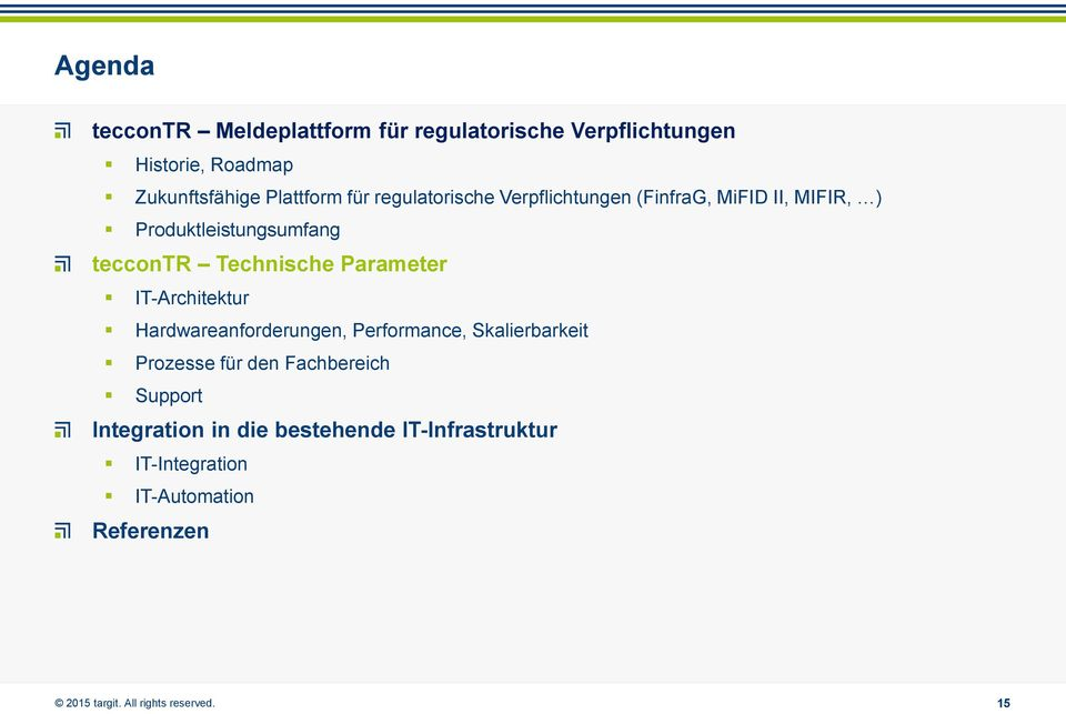 teccontr Technische Parameter IT-Architektur Hardwareanforderungen, Performance, Skalierbarkeit Prozesse