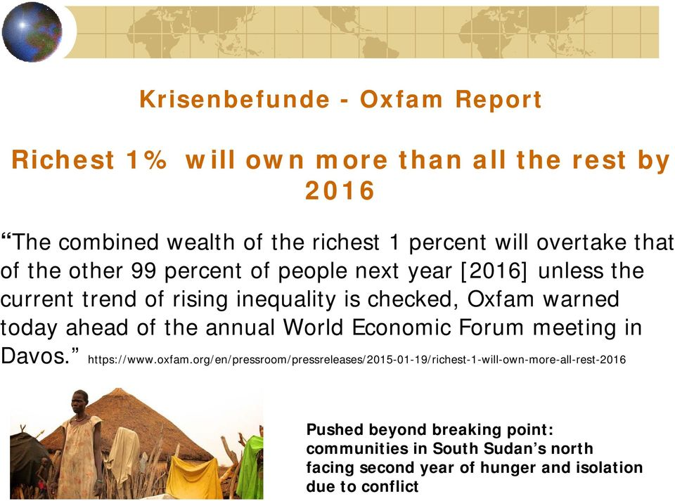 today ahead of the annual World Economic Forum meeting in Davos. https://www.oxfam.