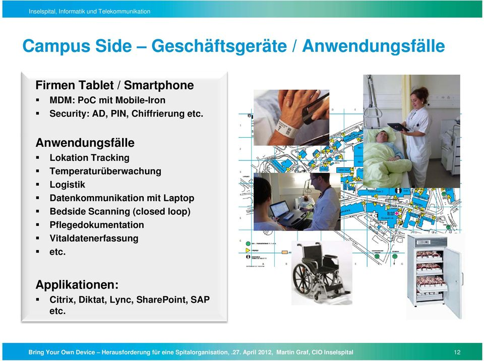 Anwendungsfälle Lokation Tracking Temperaturüberwachung Logistik Datenkommunikation mit Laptop Bedside Scanning (closed