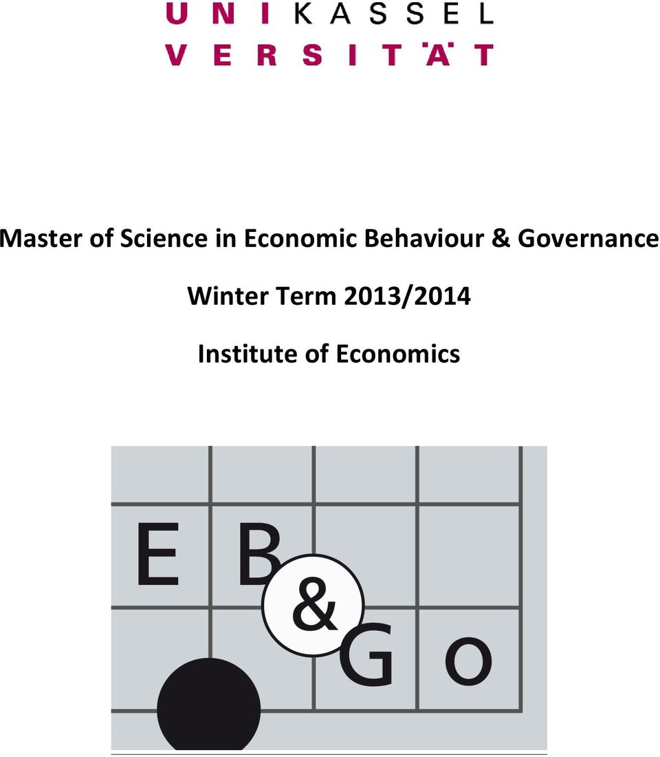 Governance Winter Term