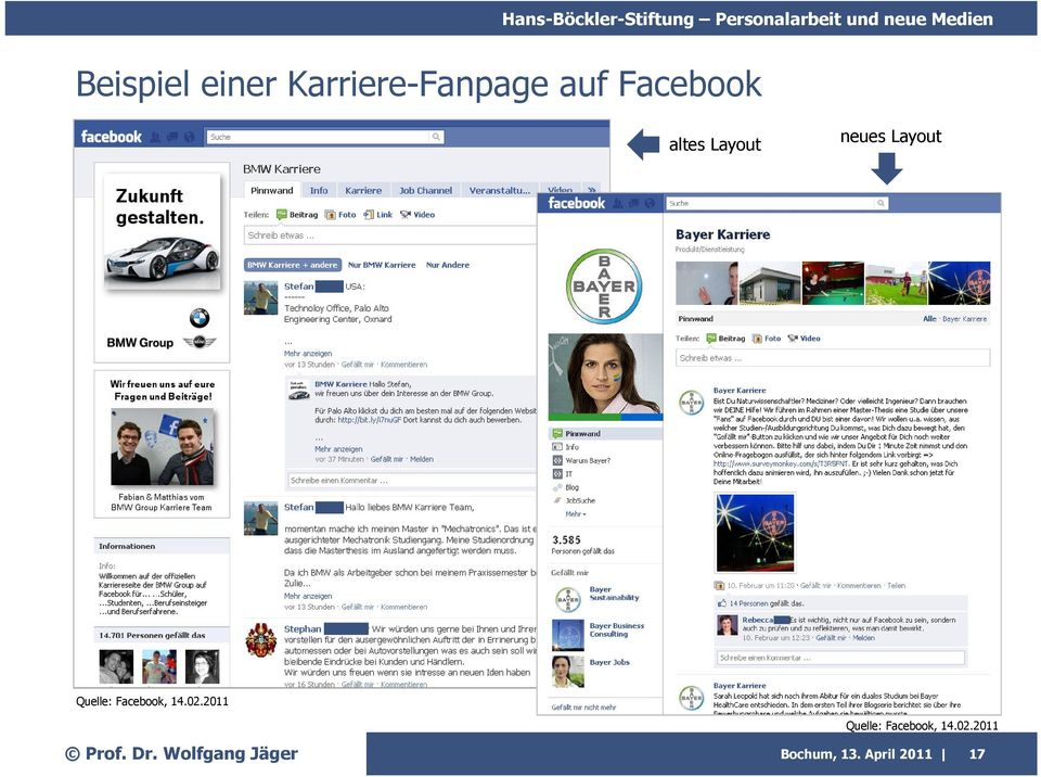 Layout Quelle: Facebook, 14.02.