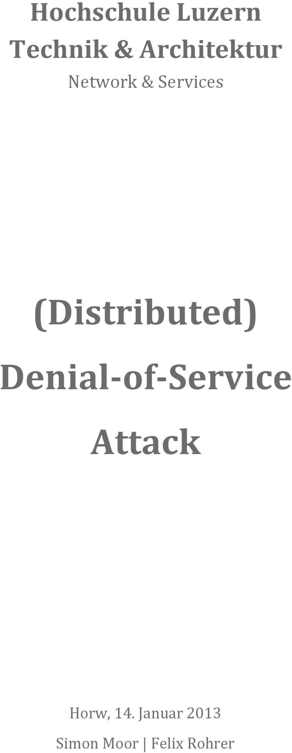 Denial-of-Service Attack
