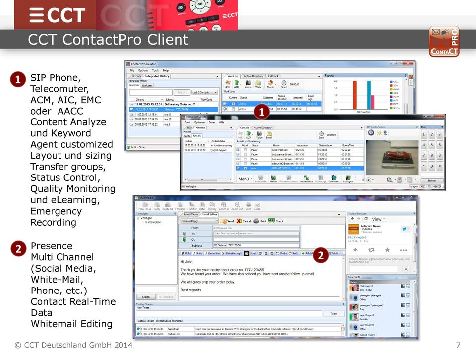 Monitoring und elearning, Emergency Recording Presence Multi Channel (Social Media,