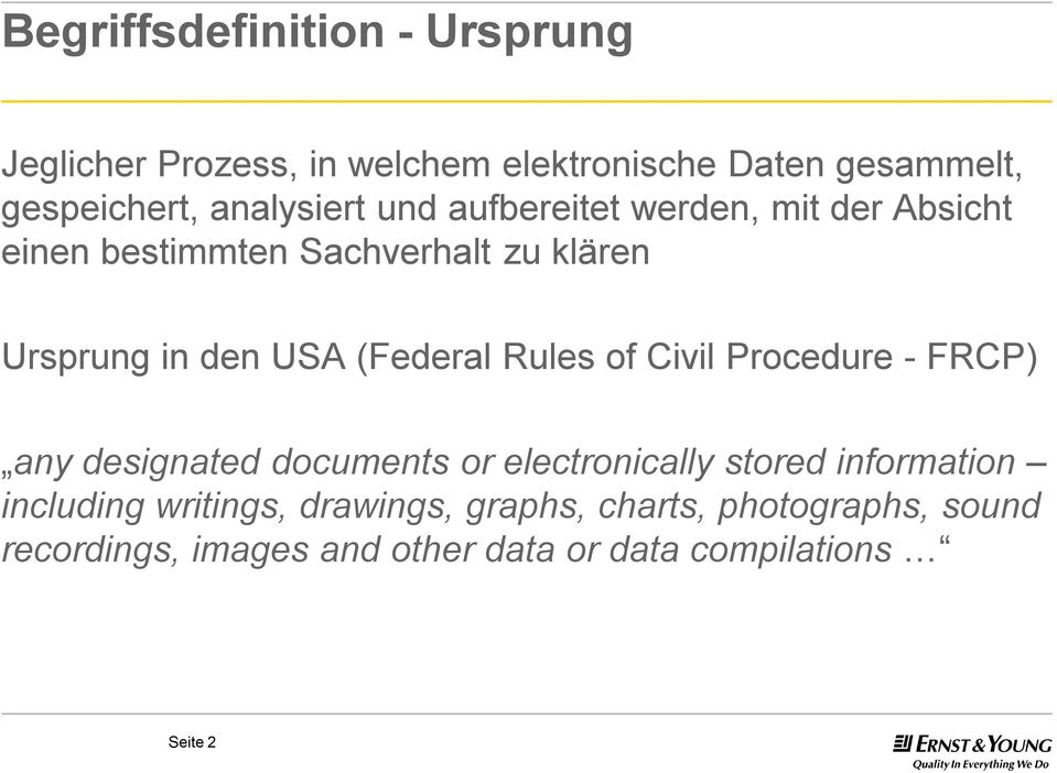 (Federal Rules of Civil Procedure -FRCP) any designated documents or electronically stored information