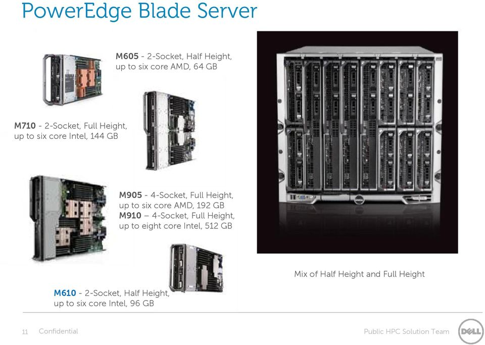 to six core AMD, 192 GB M910 4-Socket, Full Height, up to eight core Intel, 512 GB Mix