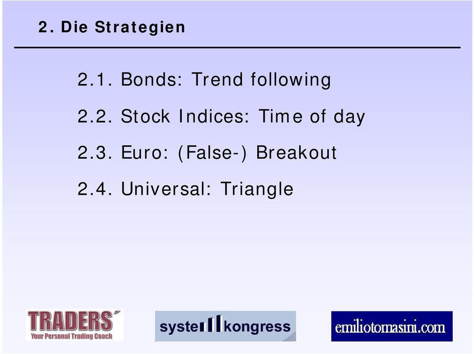 2. Stock Indices: Time of day 2.