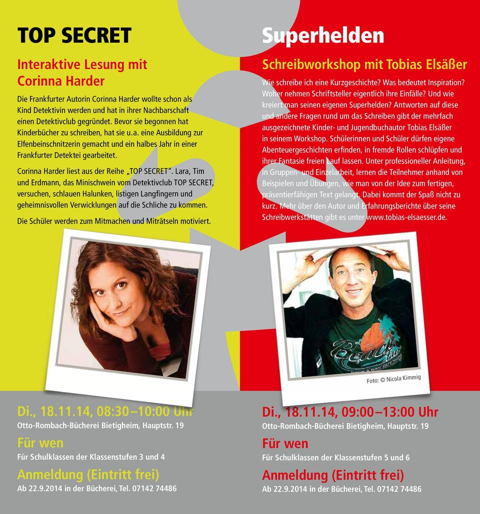 Corinna Harder liest aus der Reihe TOP SECRET.
