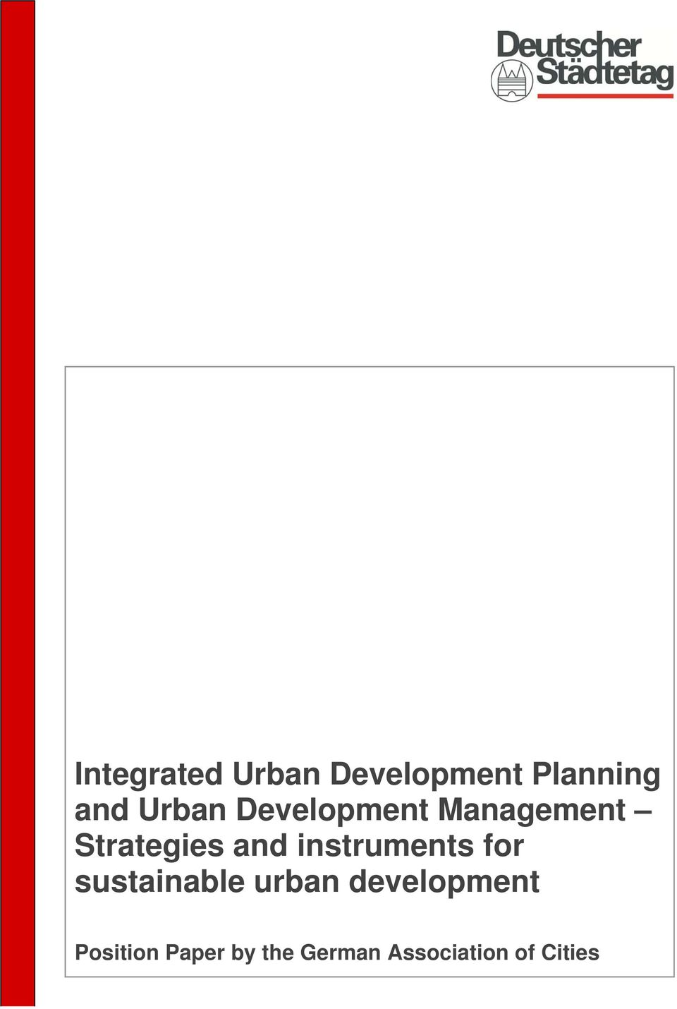 instruments for sustainable urban development