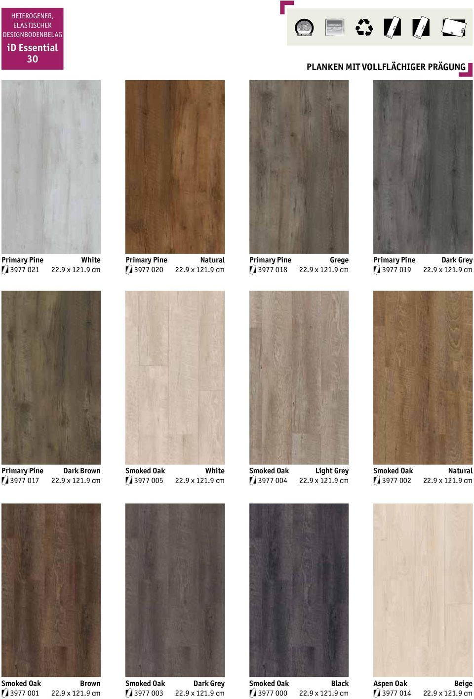 White Smoked Oak Light Grey Smoked Oak Natural 3977 017 x cm 3977 005 x cm 3977 004 x cm 3977 002 x cm Smoked