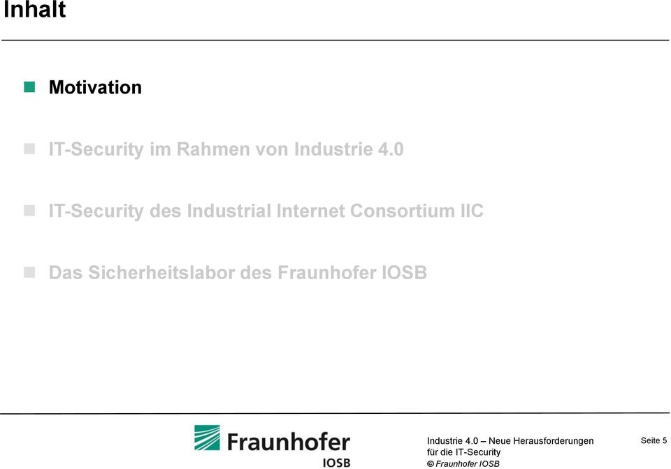 0 IT-Security des Industrial Internet