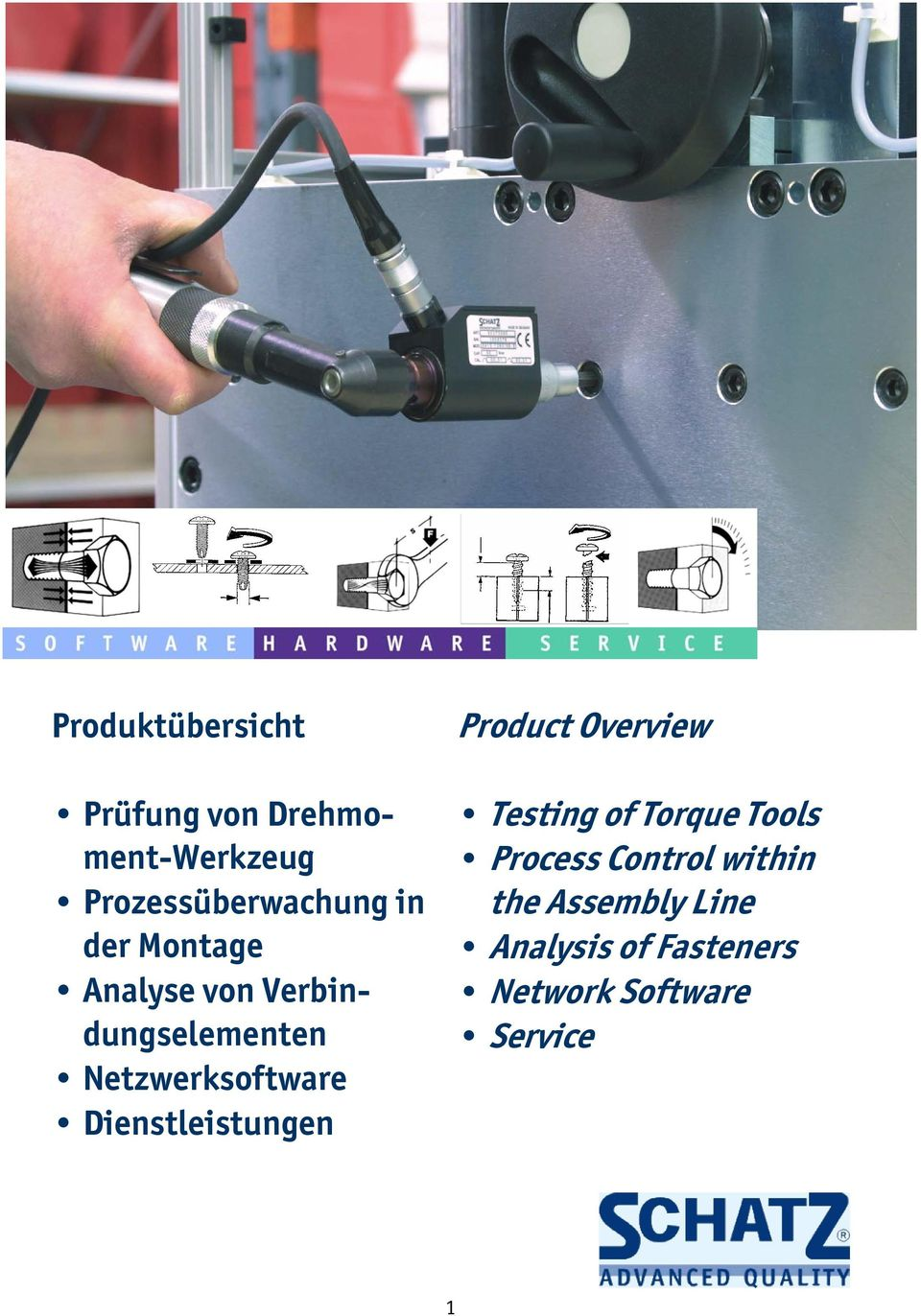 Dienstleistungen Product Overview Testing of Torque Tools Process