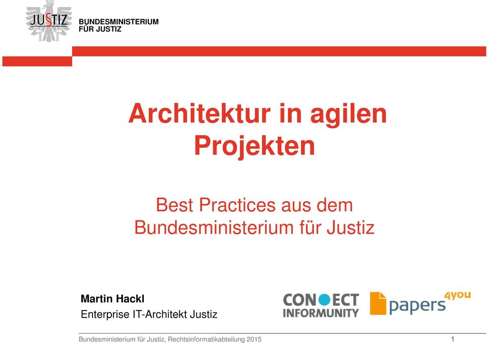 Hackl Enterprise IT-Architekt Justiz