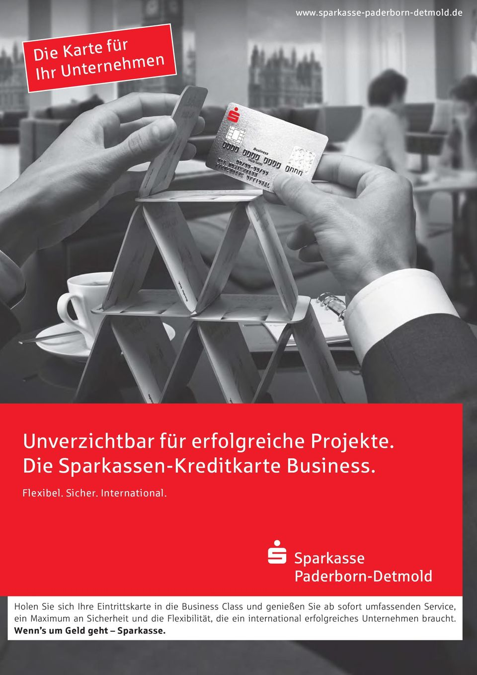 Die Sparkassen-Kreditkarte Business. Flexibel. Sicher. International.