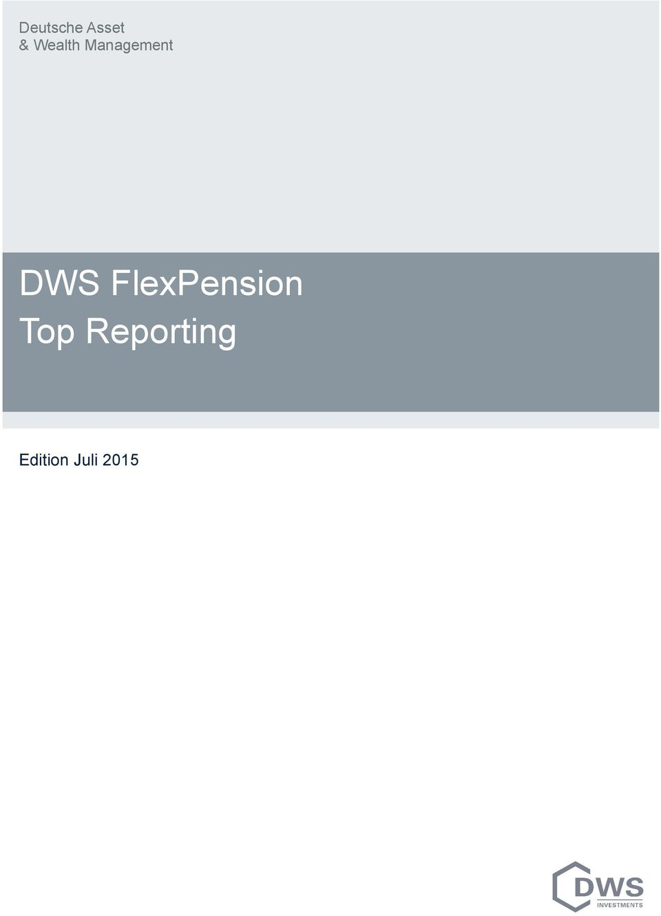 DWS FlexPension