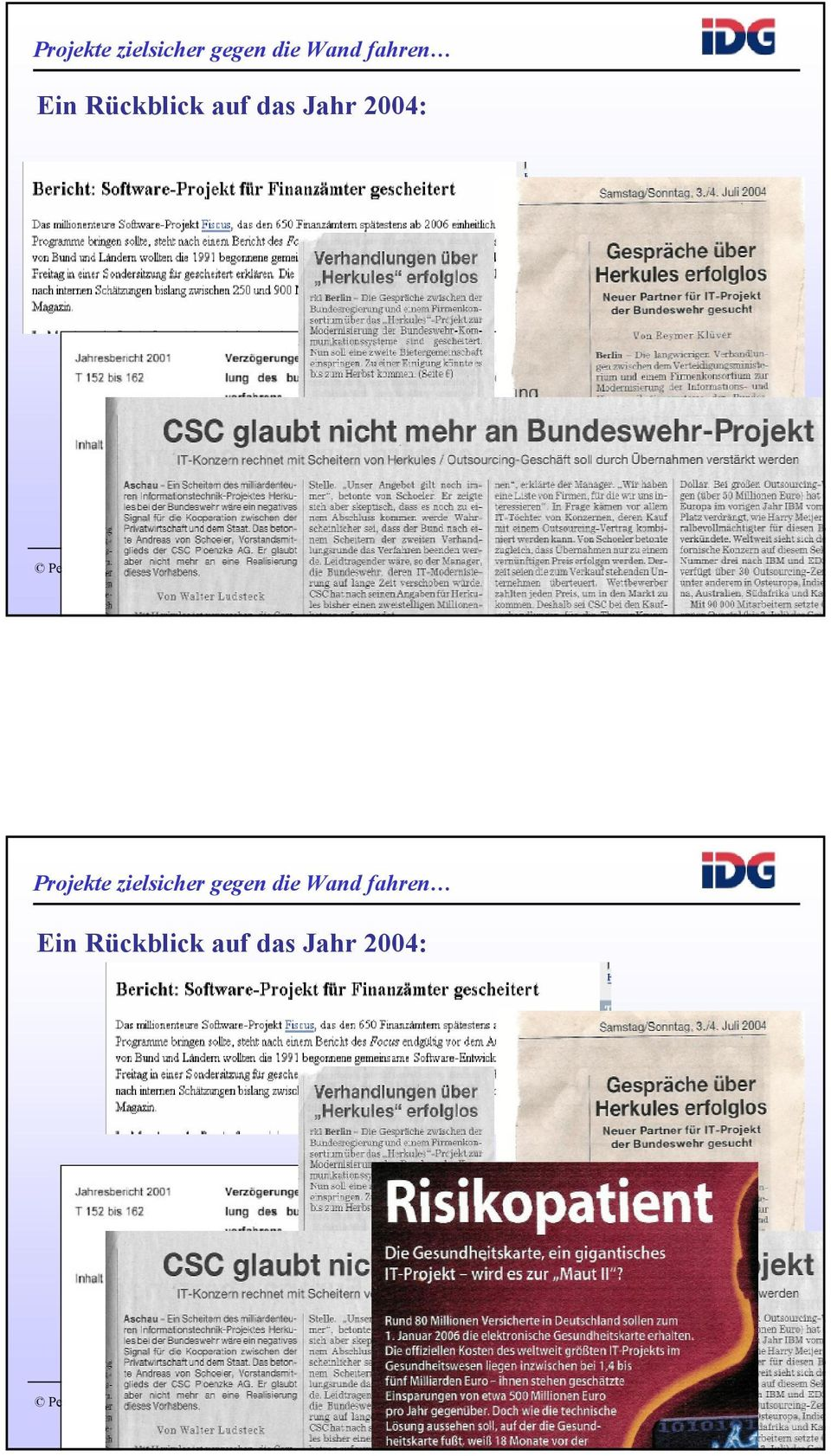 Jahr 2004: Projects2 8