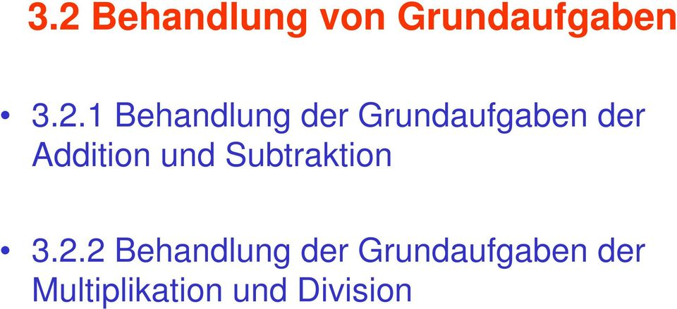Addition und Subtraktion 3.2.