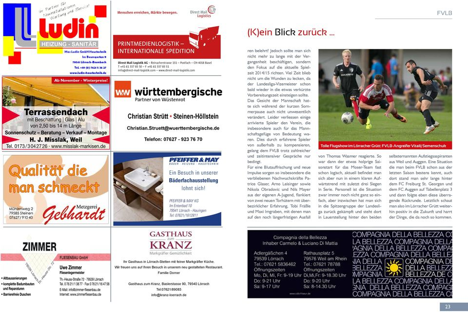 de Printmedienlogistik internationale spedition Direct Mail Logistik AG Reinacherstrasse 131 Postfach CH-4018 Basel T +41 61 337 83 50 F +41 61 337 83 51 info@direct-mail-logistik.com www.