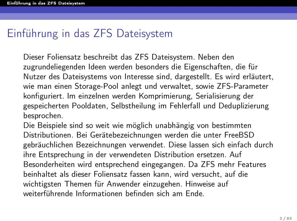 Einf hrung in das zfs dateisystem pdf for Zfs pool design