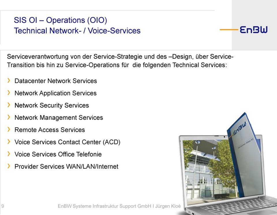 Datacenter Network Services Network Application Services Network Security Services Network Management Services