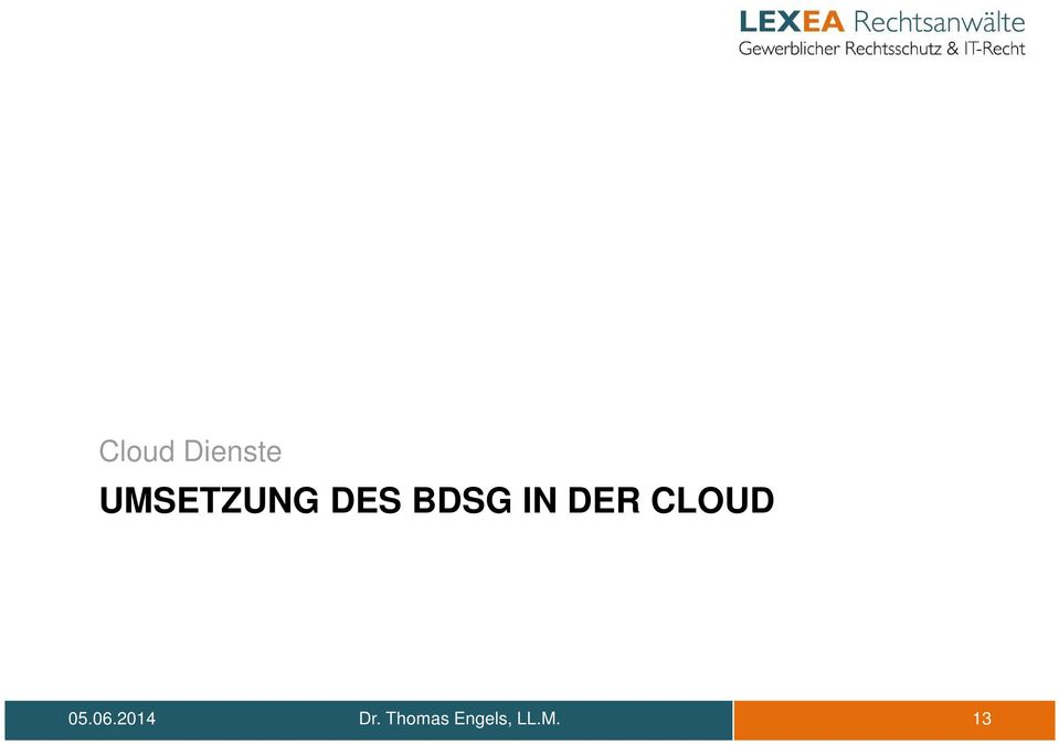 IN DER CLOUD 05.06.