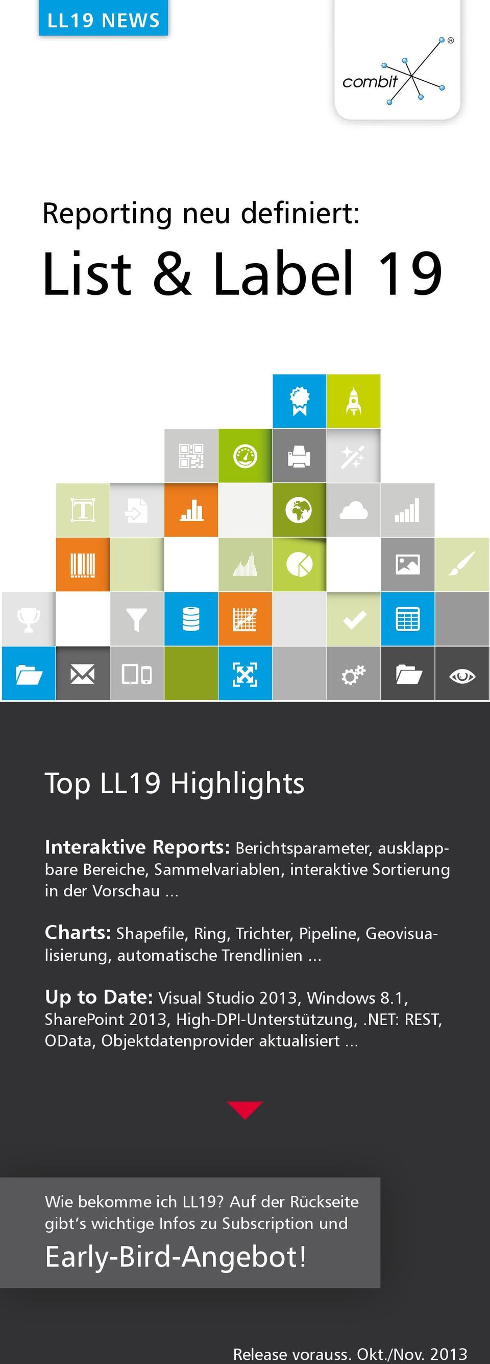 .. Charts: Shapefile, Ring, Trichter, Pipeline, Geovisualisierung, automatische Trendlinien... Up to Date: Visual Studio 2013, Windows 8.