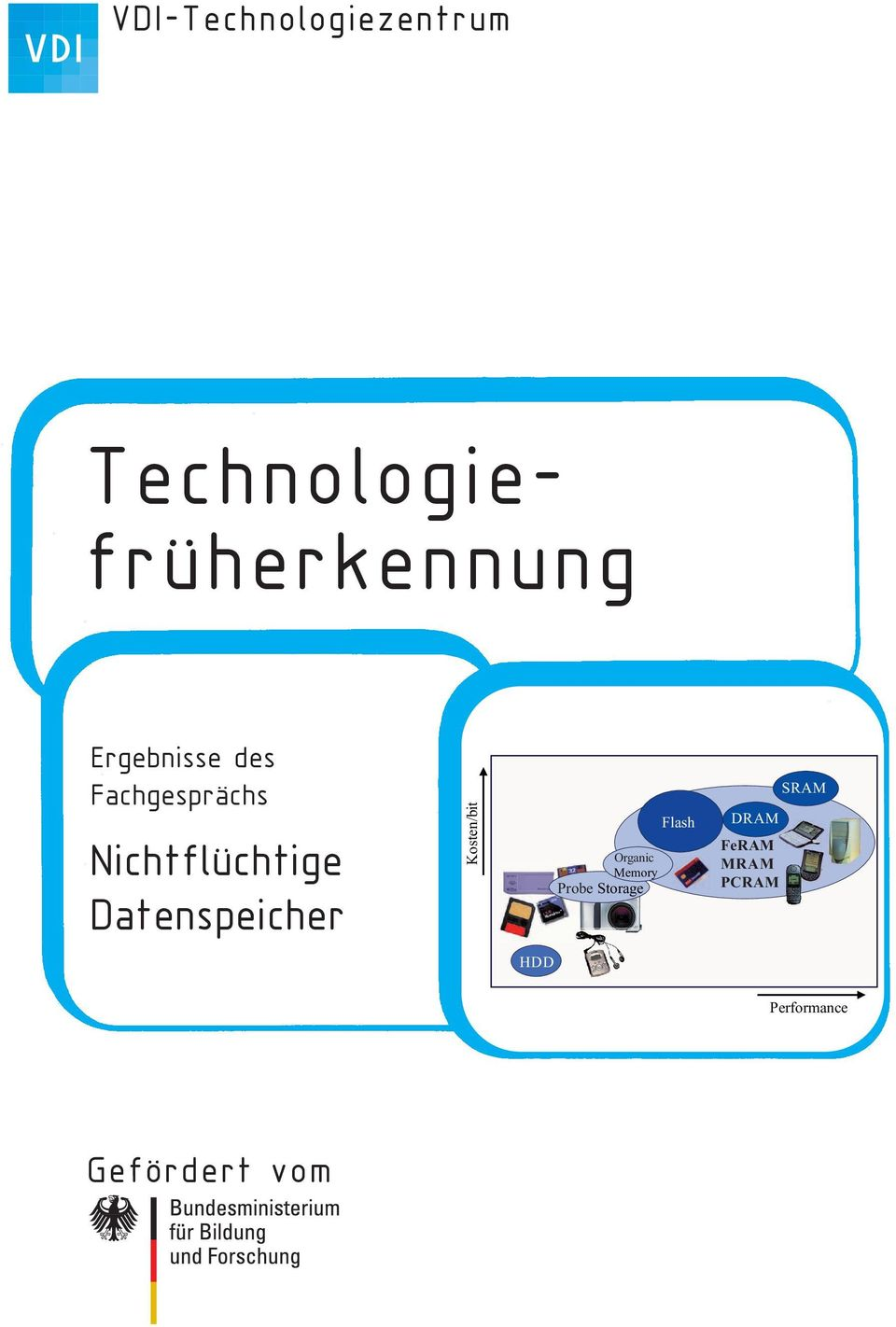 Datenspeicher Kosten/bit Flash Organic Memory Probe
