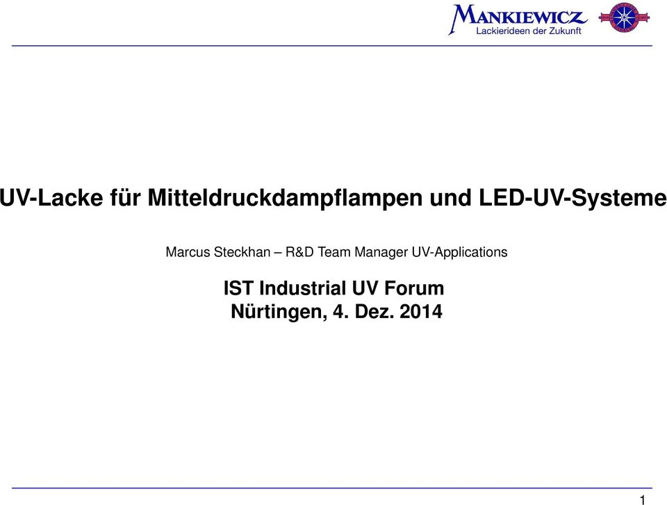Team Manager UV-Applications IST
