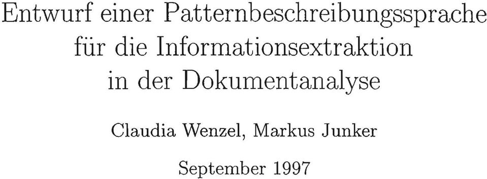 die Informationsextraktion in der