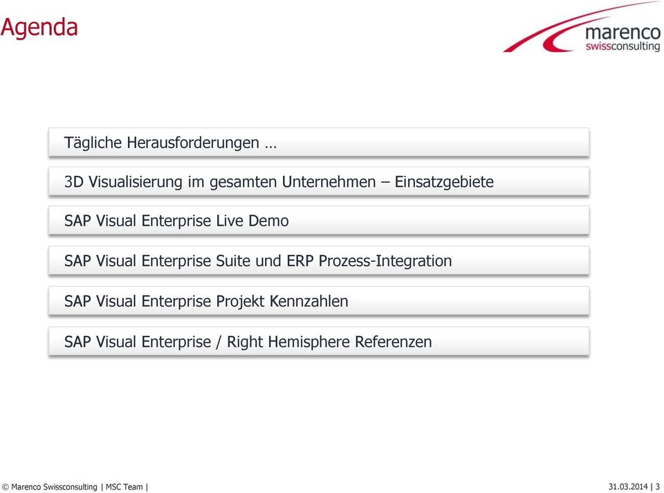 ERP Prozess-Integration SAP Visual Enterprise Projekt Kennzahlen SAP Visual