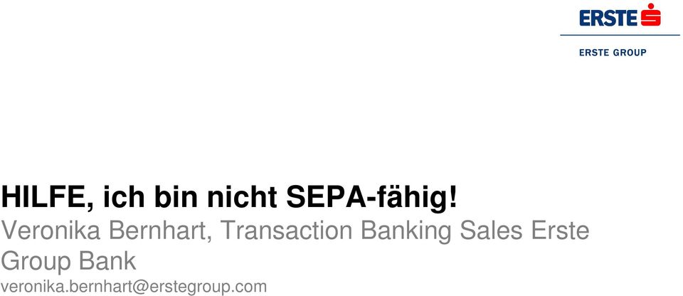 Banking Sales Erste Group Bank