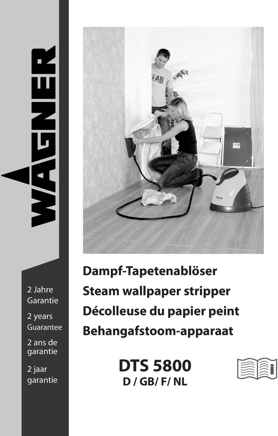 Dampf-Tapetenablöser Steam wallpaper